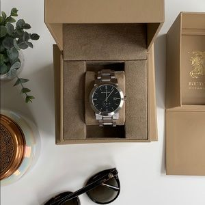 Burberry Men's Sub-eye Checked Stamp Watch-42mm